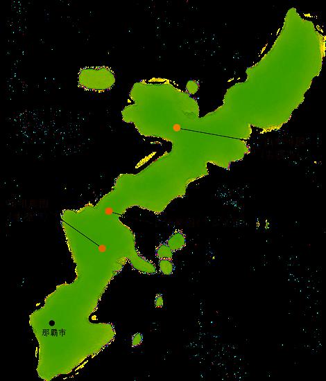 沖縄珈琲 農園マップ